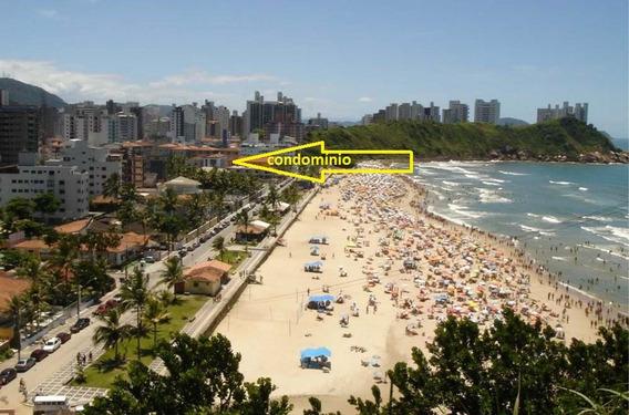 Pé Na Areia, Com Vista Para O Mar. Ar.cond.; Wifi; Garagem