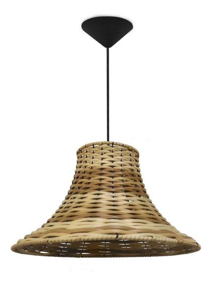 Pendente Luminária Chapéu Chines Junco Sintético Pinus
