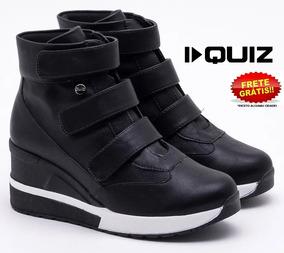 Tênis Quiz 67-37928 Sneaker Feminino Preto Flatform