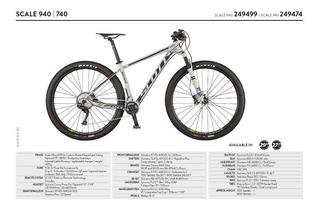Bicicleta Mtb 29er 27.5 Scott Scale 940 / 740 Stock! 2017