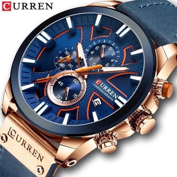 Relógio Curren 8346 Original Esportivo Funcional Promoção