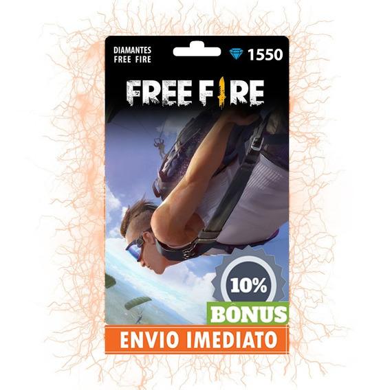Free Fire 1550 Diamantes +155 Bônus (1705) Recarga P/ Conta