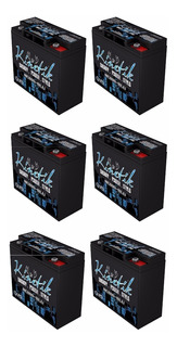 Kit 6pz Bateria Alto Rendimiento 12v 10000w Kinetik Hc600blu