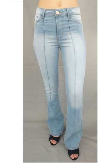 Calça Sarja Feminina Cintura Alta Skinny E Flare Cores If