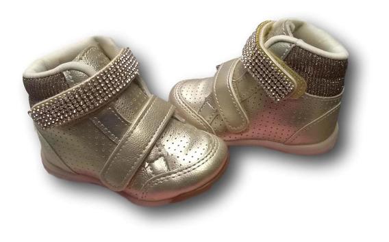 Tênis Conturno Infantil Feminino Bebê Sapato Bota 17 Ao 22