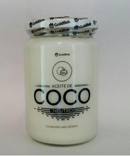 Aceite De Coco Neutro Certificado 600 Ml