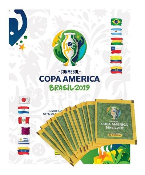 Álbum De Figurinhas Copa América - Pack Com 12 Envelopes - P