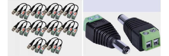 Kit 16pares Conversor Par Trançado Video Balun 600 M + 10p4
