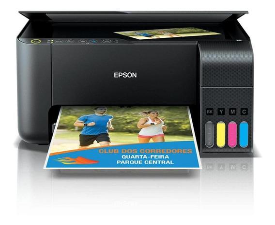 Reembalado Impressora Multifuncional Epson Ecotank Preta
