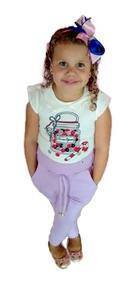 Calça Ribana Infantil - Calça Leggin - Kit Com/7 Calças