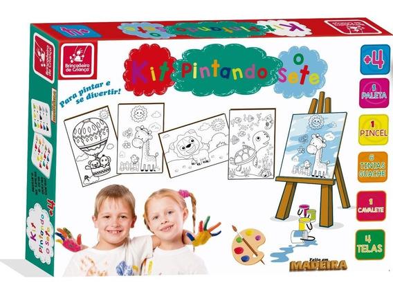 Pintura Infantil Mini Cavalete Guache Colorir Brincadeira