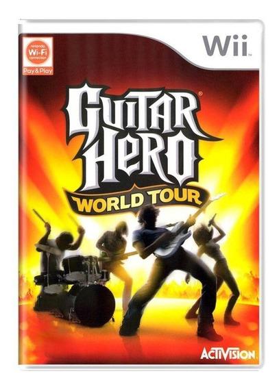 Guitar Hero World Tour Wii Mídia Física Pronta Entrega