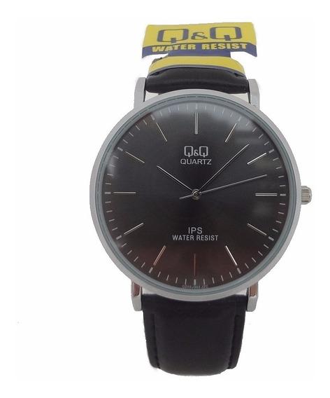 Relógio Masculino Qq Quartz Original Pulseira De Couro