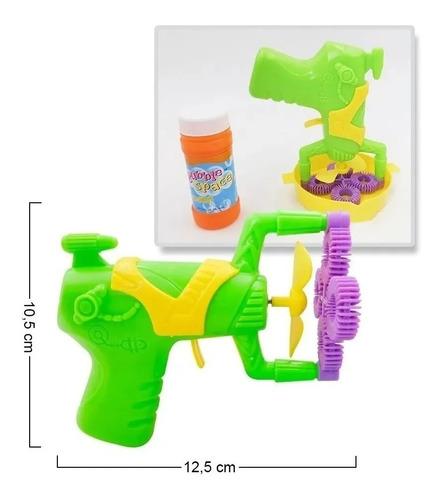 Pistola Burbujas Niños Juguete Pompas De Jabón Burbujero