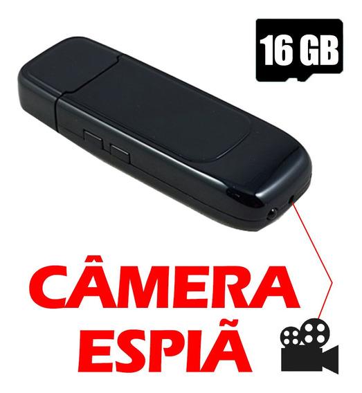 Mini Camera Espia Video Acessorios Espiao Gravar Em Pen 16gb