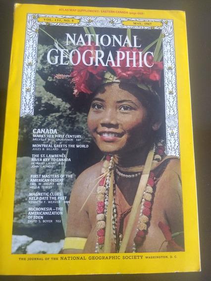 Revista National Geografhic Americana Maio De 1967