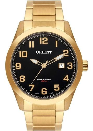 Imagem 1 de 8 de Relógio Orient Masculino Dourado Mgss1180 P2kx