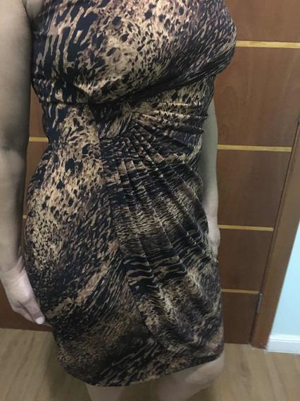 Vestido Em Estampa Animal Print