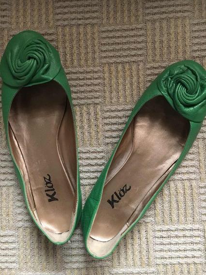 Zapatos Chatitas Kloz Verdes