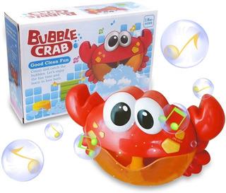 Burbujero Juguete Bebe Baño Cangrejo Burbujas Espuma Musical