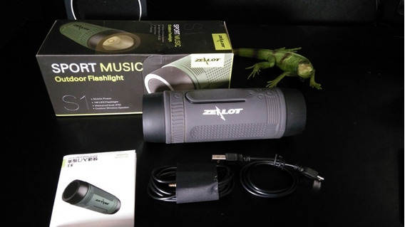 Caixa De Som Zealot Bluetooth Bike Moto Mp3 Sd Usb Lanterna