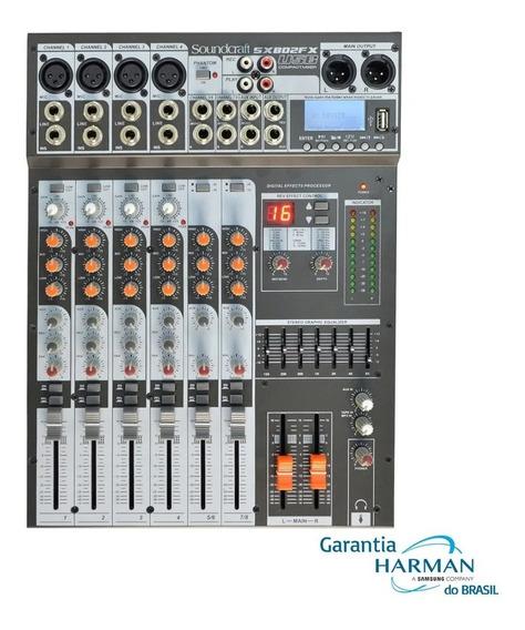 Mesa De Som Soundcraft Sx802fx Usb Efeitos 8 Canais Sx802 Fx