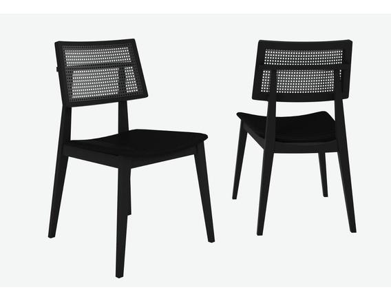 Conjunto 2 Cadeiras Palermo Móveis Clement Preto Fc