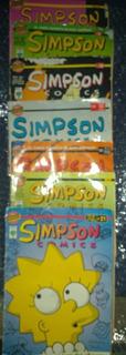 Lote De 7 Comics De Los Simpsons