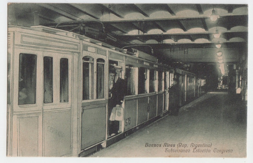 Buenos Aires Postal Antigua Subterraneos Año 1921