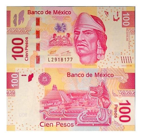 Imagen 1 de 1 de Billete De Mexico 100 Pesos 2014, Papel Moneda Unc