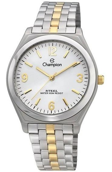 Relógio Champion Masculino Prata Dourado 50 Metros Ca20198b