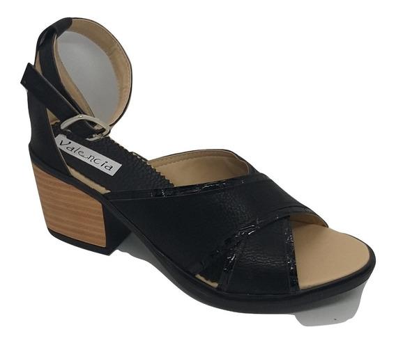 Sandalia Dama Vestir Con Taco Cruzada