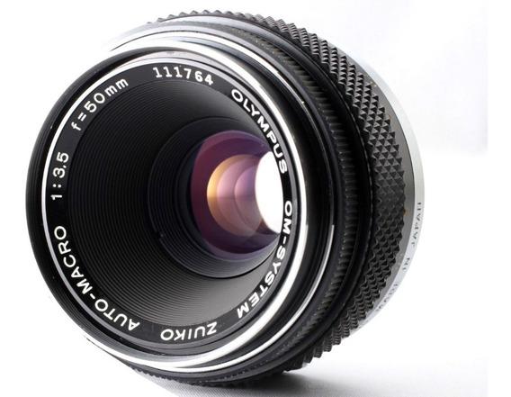 Lente Olympus Zuiko 50mm Macro - Similar Canon Fd 50mm