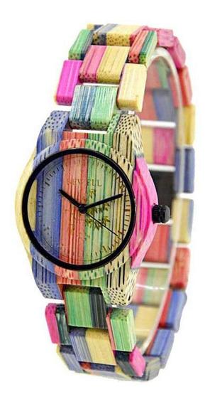 Relógio De Pulso Feminino De Quartzo Redondo Com Fivela De F