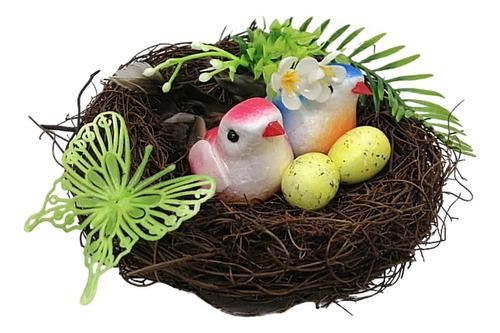 Imagen 1 de 2 de Decoración  Nido Pájaro Artificial Decoración