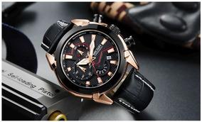 Relógio Masculino Aço Inoxidável Social Importado Megir