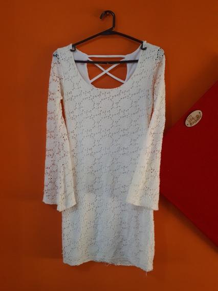 Vestido Encaje Crema Talle 1