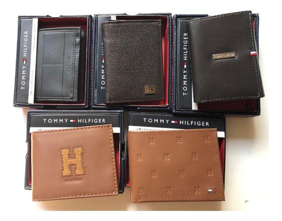 Billetera Tommy Hilfiger Cuero Importadas Original En Caja Estuche Super Regalo Con Protector Tarjetas Contact Less