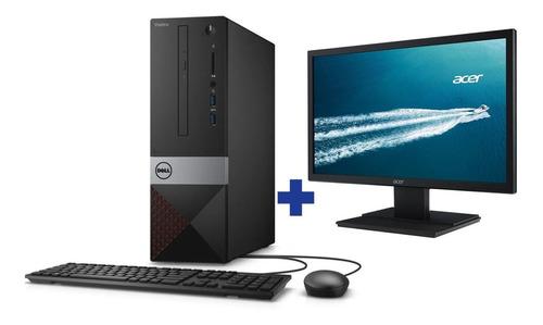 Desktop Dell Vostro 3470 I5 8gb 1tb W10 Pro + Monitor 19,5