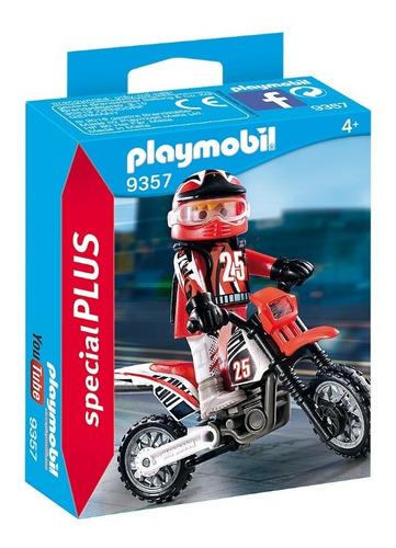 Imagen 1 de 6 de Playmobil 9357 Motocross Moto Original Educando