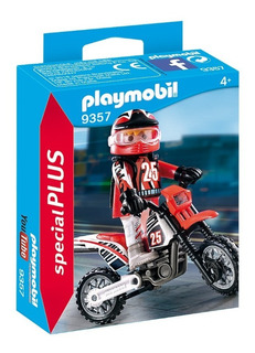 Playmobil 9357 Motocross Moto Original Educando