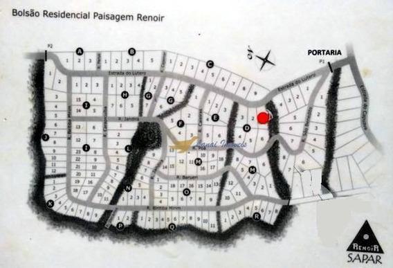 Terreno À Venda, 2726 M² Por R$ 280.000 - Paisagem Renoir - Cotia/sp - Te0086