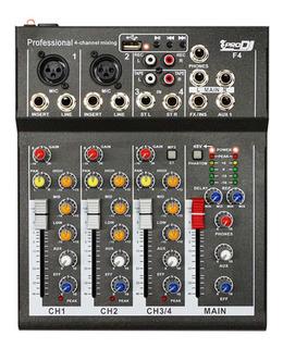 Mixer Pro Dj F4 Consola Pasiva Mezclador F-4