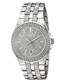 Relógio Masculino Bulova Prata/aço Cristal Swarovski 42mm