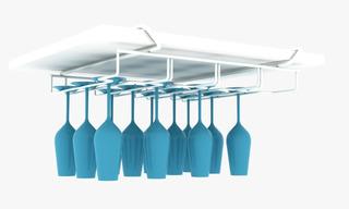 Suporte Suspenso Armário Porta 12 Taças Organizador Cozinha