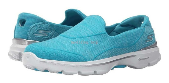 Tênis Skechers Go Walk 3 Super Sock Turquesa