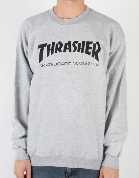 Blusa Moletom Thrasher Magazine Gola Redonda Skate Unissex