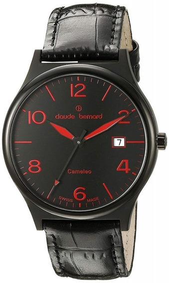 Reloj Claude Bernard Piel De Becerro Negro Mujer 7017337nnro