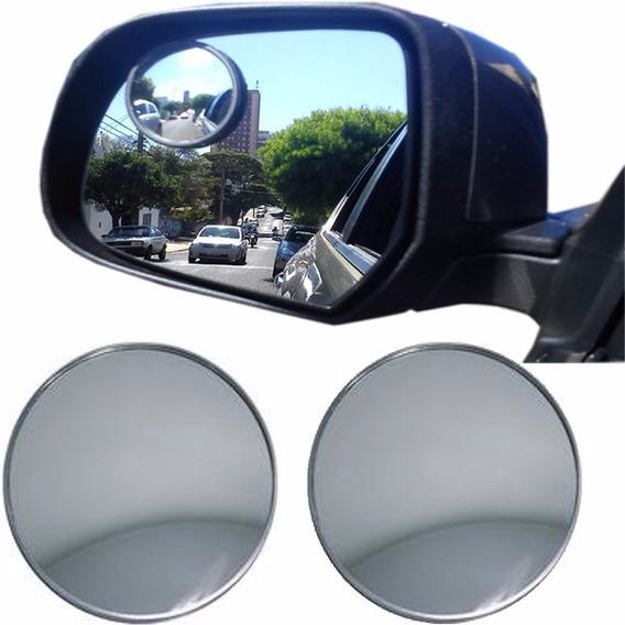 Par De Espelho Para Retrovisor Convexo 50mm Carro Moto