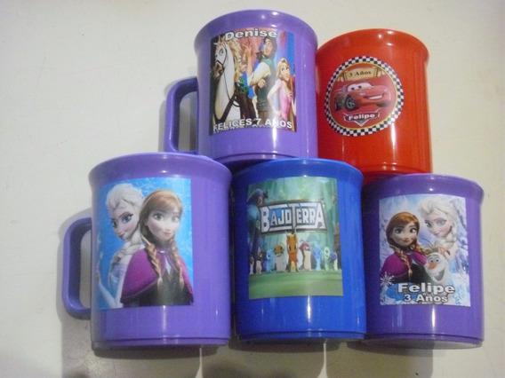 Tazas Plasticas Personalizadas Lavables Souvenir Colores 35u